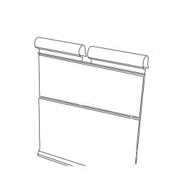 Откидной двойной ценник на крючок (39х70 мм) DRA