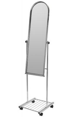 Зеркало напольное на колесах (400х1620 мм) хром арт. MGM3043C