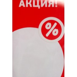"""Защитный пластиковый карман-протектор с печатью """"Акция"""" А-4"""