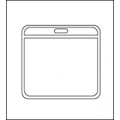 Карман для бейджа пластиковый горизонтальный (100х70 мм) арт.719558