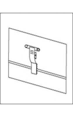 Карман для бейджа пластиковый горизонтальный с зажимом и булавкой (90х55 мм) арт.719055