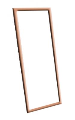 Зеркало настенное в багетной раме (570х1590 мм) арт. ТМ/С